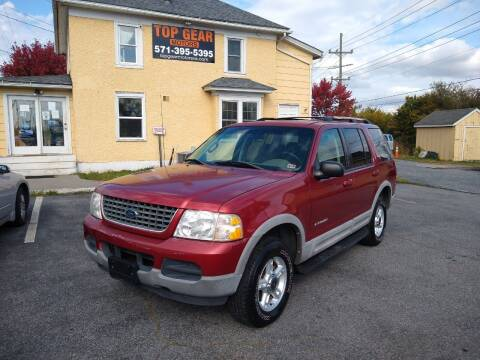 2002 Ford Explorer for sale at Top Gear Motors in Winchester VA