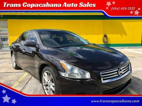 2013 Nissan Maxima for sale at Trans Copacabana Auto Sales in Hollywood FL