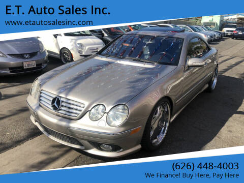 2004 Mercedes-Benz CL-Class for sale at E.T. Auto Sales Inc. in El Monte CA