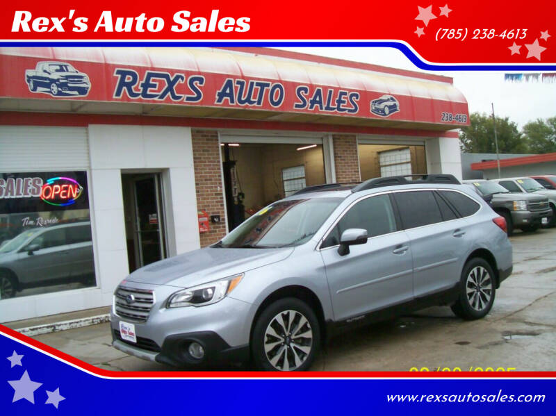 2016 Subaru Outback for sale at Rex's Auto Sales in Junction City KS