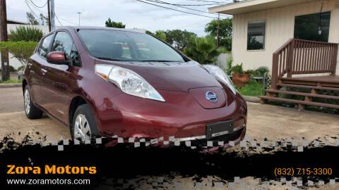 2016 Nissan LEAF for sale at Zora Motors in Houston TX