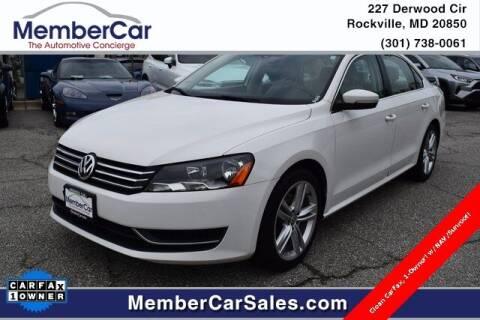 2014 Volkswagen Passat for sale at MemberCar in Rockville MD