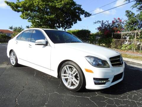 2014 Mercedes-Benz C-Class for sale at SUPER DEAL MOTORS 441 in Hollywood FL