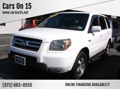 2007 Honda Pilot for sale at Cars On 15 in Lake Hopatcong NJ