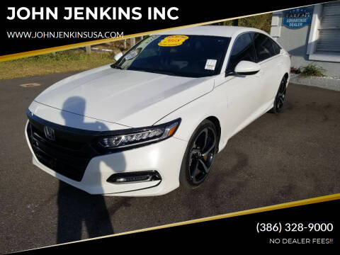 2018 Honda Accord for sale at JOHN JENKINS INC in Palatka FL