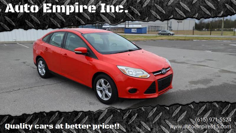 2013 Ford Focus for sale at Auto Empire Inc. in Murfreesboro TN