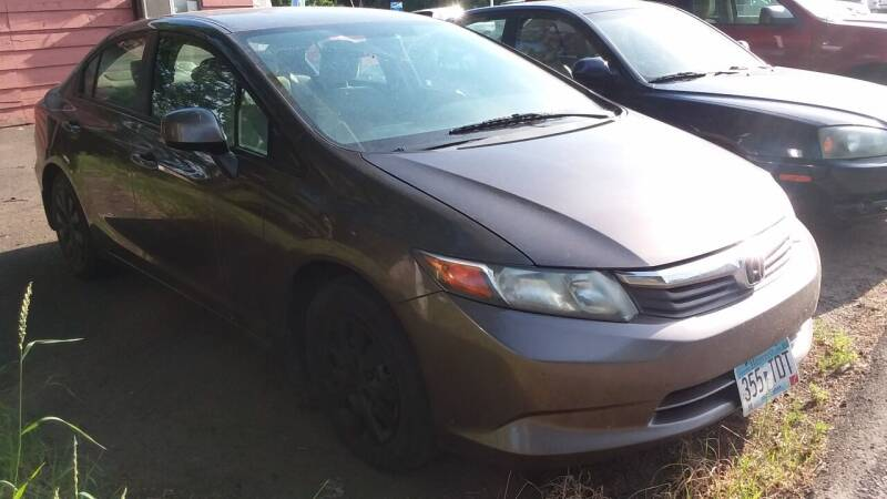 2012 Honda Civic for sale at Sunrise Auto Sales in Stacy MN