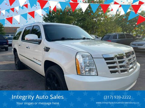 2008 Cadillac Escalade ESV for sale at Integrity Auto Sales in Brownsburg IN