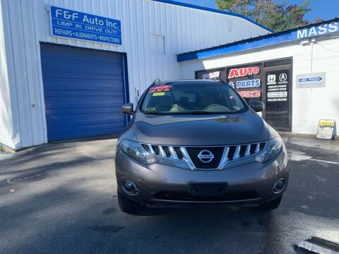 2010 Nissan Murano for sale at F&F Auto Inc. in West Bridgewater MA