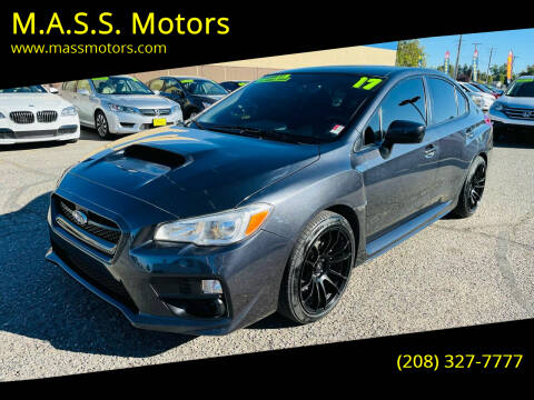 2017 Subaru WRX for sale at M.A.S.S. Motors - MASS MOTORS in Boise ID