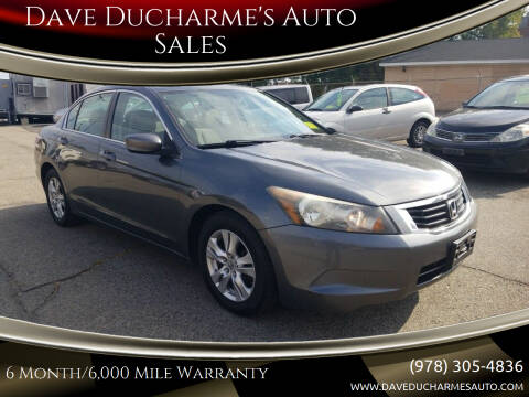 2010 Honda Accord for sale at Dave Ducharme's Auto Sales in Lowell MA