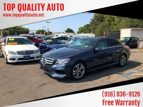 2014 Mercedes-Benz E-Class for sale at TOP QUALITY AUTO in Rancho Cordova CA