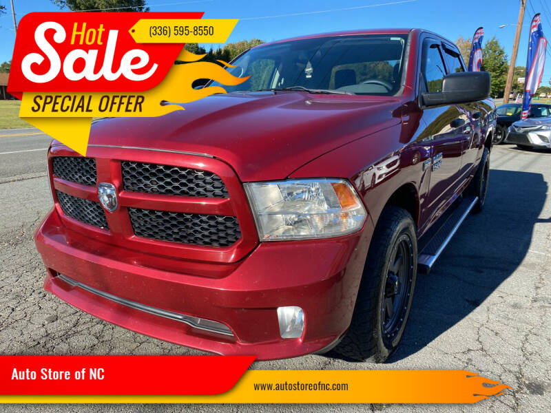 2013 RAM Ram Pickup 1500 for sale at Auto Store of NC in Walkertown NC