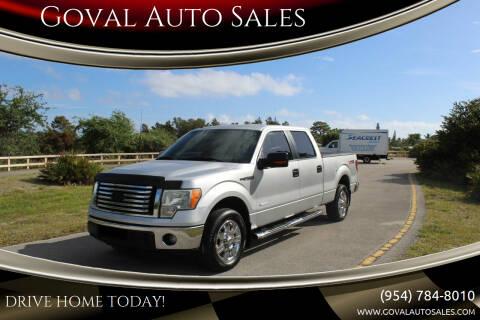 2011 Ford F-150 for sale at Goval Auto Sales in Pompano Beach FL