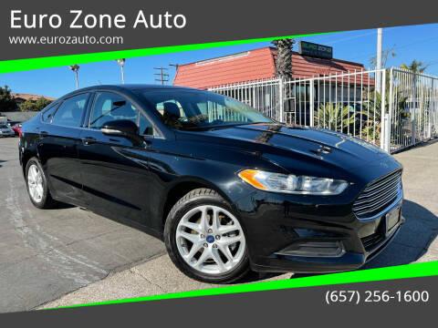 2016 Ford Fusion for sale at Euro Zone Auto in Stanton CA