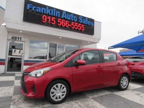 2017 Toyota Yaris for sale at Franklin Auto Sales in El Paso TX