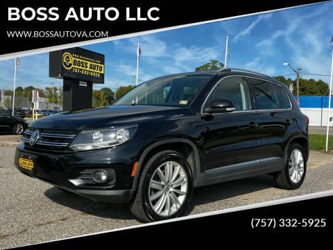 2012 Volkswagen Tiguan for sale at BOSS AUTO LLC in Norfolk VA