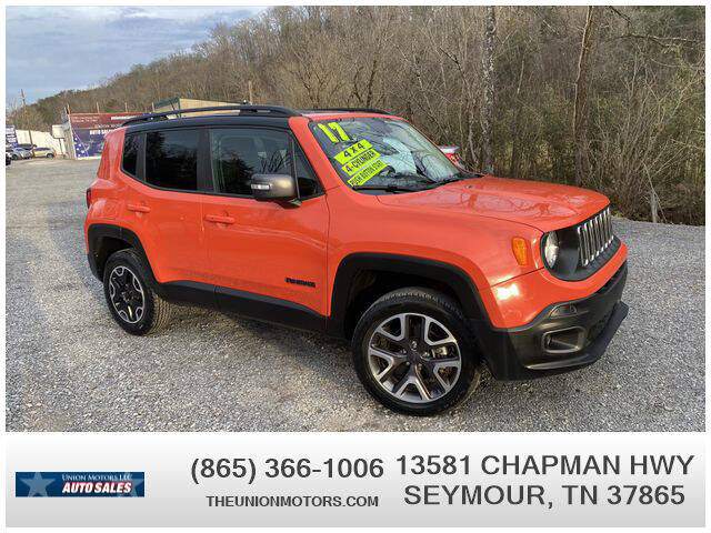 2017 Jeep Renegade for sale at Union Motors in Seymour TN