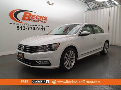 2016 Volkswagen Passat for sale at Becks Auto Group in Mason OH
