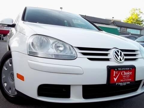 2008 Volkswagen Rabbit for sale at 1st Choice Auto Sales in Fairfax VA
