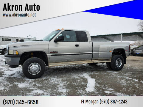 2001 Dodge Ram Pickup 3500 for sale at Akron Auto in Akron CO