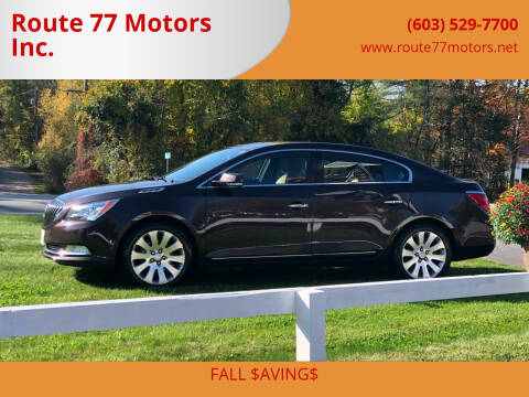 2015 Buick LaCrosse for sale at Route 77 Motors Inc. in Weare NH