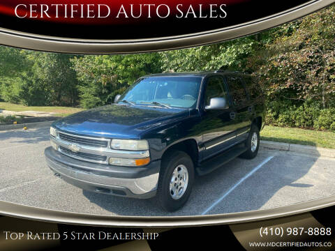 2005 Chevrolet Tahoe for sale at CERTIFIED AUTO SALES in Severn MD