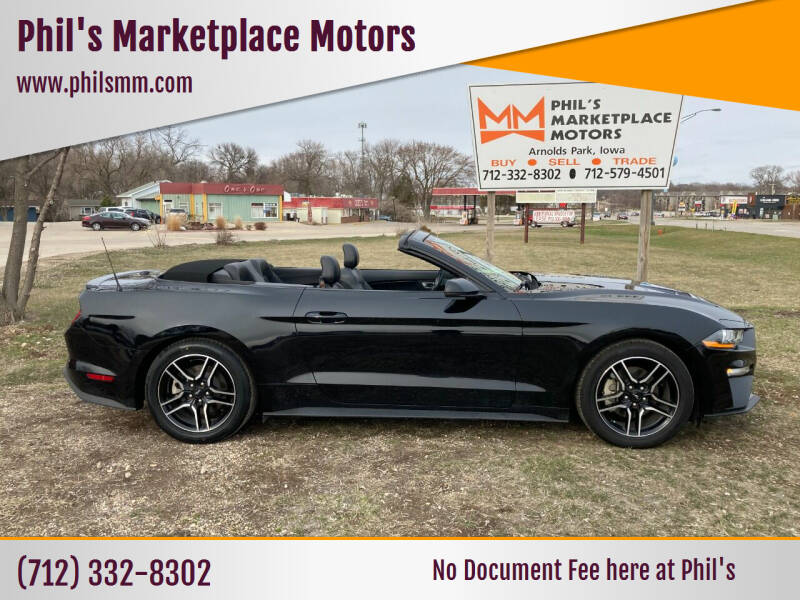 2019 Ford Mustang for sale at Phil's Marketplace Motors in Arnolds Park IA