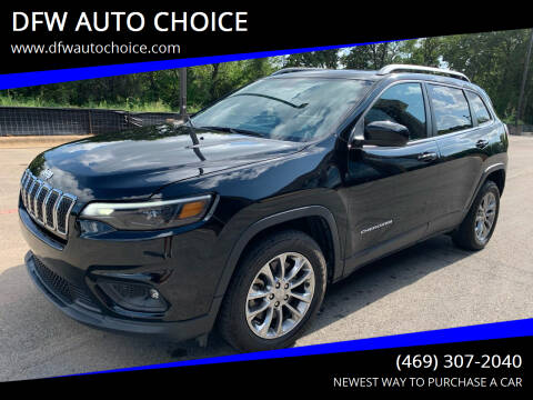 2019 Jeep Cherokee for sale at DFW AUTO CHOICE in Dallas TX