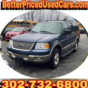 2003 Ford Expedition for sale at Better Priced Used Cars in Frankford DE