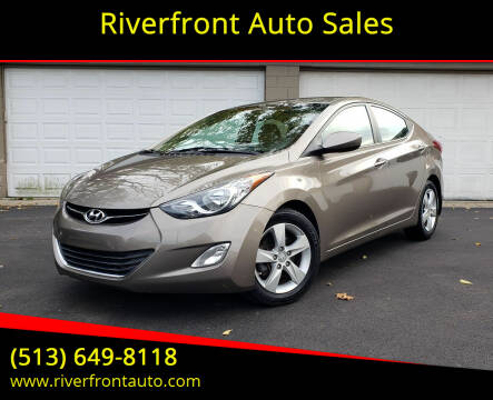 2013 Hyundai Elantra for sale at Riverfront Auto Sales in Middletown OH
