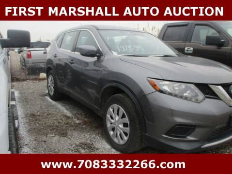 2016 Nissan Rogue for sale at First Marshall Auto Auction in Harvey IL