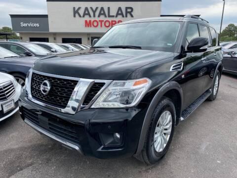 2019 Nissan Armada for sale at KAYALAR MOTORS in Houston TX
