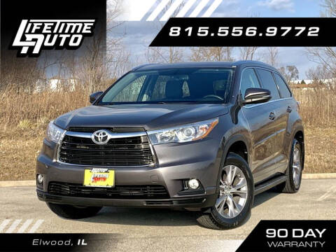 2015 Toyota Highlander for sale at Lifetime Auto in Elwood IL