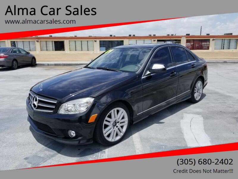 2009 Mercedes-Benz C-Class for sale at Alma Car Sales in Miami FL