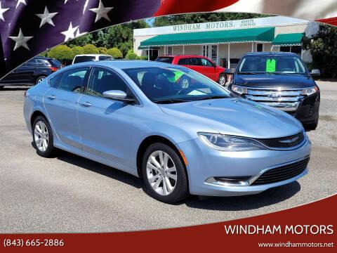 2015 Chrysler 200 for sale at Windham Motors in Florence SC