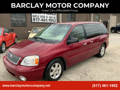 2004 Mercury Monterey for sale at BARCLAY MOTOR COMPANY in Arlington TX