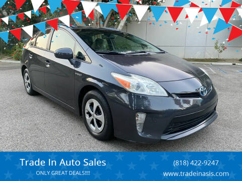 2012 Toyota Prius for sale at Trade In Auto Sales in Van Nuys CA