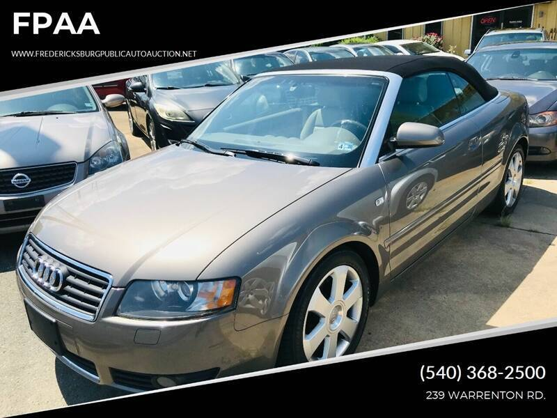 2004 Audi A4 for sale at FPAA in Fredericksburg VA
