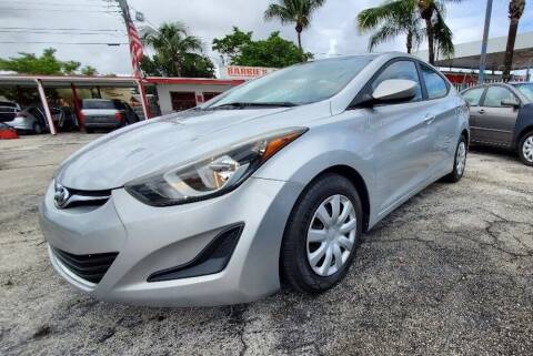 2016 Hyundai Elantra for sale at Barbie's Autos Corp in Miami FL