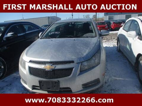 2013 Chevrolet Cruze for sale at First Marshall Auto Auction in Harvey IL