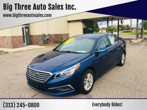 2016 Hyundai Sonata for sale at Big Three Auto Sales Inc. in Detroit MI