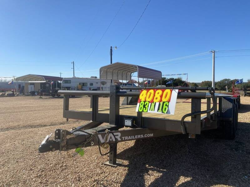 """2021 VAR - Equipment 83""""x16' - 14K for sale at LJD Sales in Lampasas TX"""