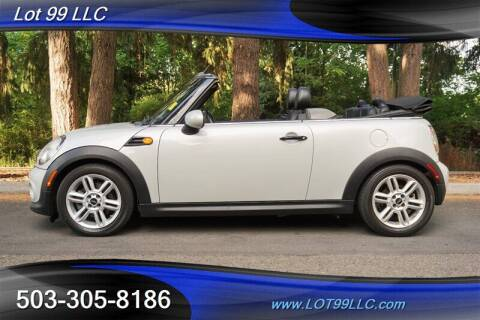 2012 MINI Cooper Convertible for sale at LOT 99 LLC in Milwaukie OR
