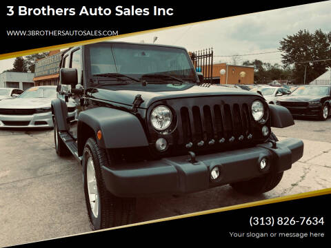 2017 Jeep Wrangler Unlimited for sale at 3 Brothers Auto Sales Inc in Detroit MI