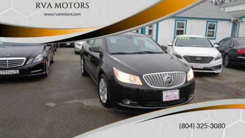 2012 Buick LaCrosse for sale at RVA MOTORS in Richmond VA