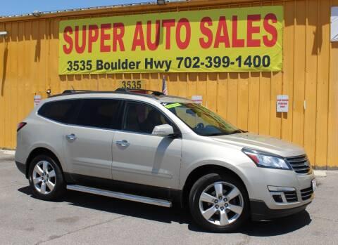2013 Chevrolet Traverse for sale at Super Auto Sales in Las Vegas NV