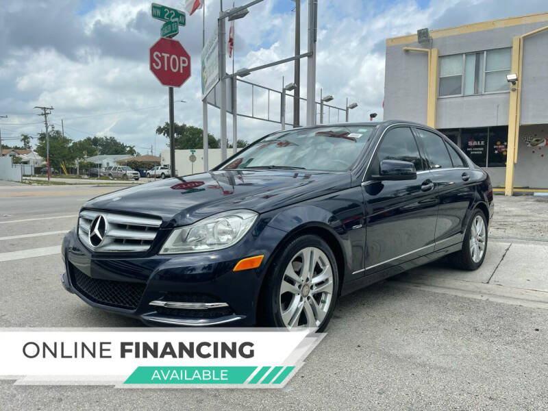 2012 Mercedes-Benz C-Class for sale at Global Auto Sales USA in Miami FL