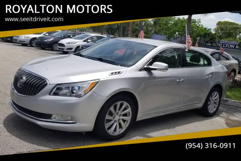 2016 Buick LaCrosse for sale at ROYALTON MOTORS in Plantation FL