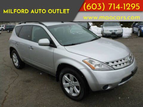2006 Nissan Murano for sale at Milford Auto Outlet in Milford NH